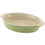Typhoon Green Vintage Oval Baking Dish 16x8