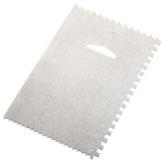 Ateco Aluminum 6 x 4 Inch Decorating Comb and Icing Smoother
