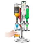 Final Touch LED Aluminum 4 Bottle Illuminated Bar Caddy