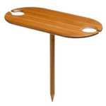 Tovolo Outdoor Bamboo Wine Table for 2