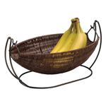 Anchor Hocking Intermezzo Brown Wicker Wire Banana Basket