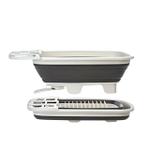 Progressive Prep Solutions Swivel Spout Collapsible 10 Plate Dish Drainer