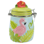 Boston Warehouse Earthenware Flamingo Hinged Jar