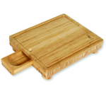 Island Bamboo Solana Cutting Board with Gravy Server, 15 x 12 Inch