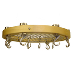 Typhoon Round Ceiling Rack Wood Pot Rack
