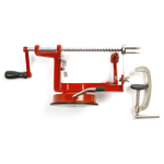 Norpro Red Apple Master Corer, Parer, and Slicer with Vacuum Base and Clamp