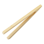 Natural Bamboo Long Bread Removing Toaster Tongs
