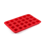 Cook Essentials Red Silicone Mini Muffin Pan, 24 Cup