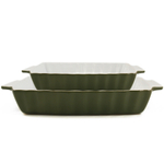 Rectangular Bakeware 2 Piece Set Green Large & Small