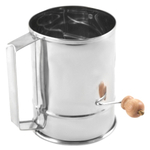 Stainless Steel Crank Action Flour Sifter, 4 Cup