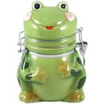 Boston Warehouse Ceramic Frog Hinged Storage Jar
