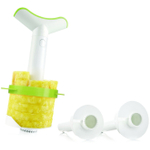Vacu Vin White and Lime Green Pineapple Slicer with Wedger, Set of 3