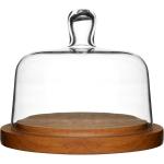 Sagaform Oval Oak Glass Cheese Serving Domed Platter