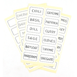 Spice Label Sticker, Set of 48