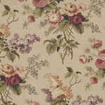 Waverly Oblong Tablecloth in Floral Garden Beige Linen