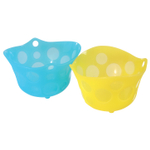 Casabella Yellow and Blue Poach N' Serve Egg Poachers, Set of 2