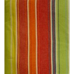 Festival Red and Green Striped 52x70 Rectangular Tablecloth