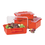 Oggi Red Snap 'N Steal Storage Container 3 Piece SetSteal Storage