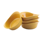 Rachael Ray Yellow Stoneware Square Dipping Cup, Set of 4