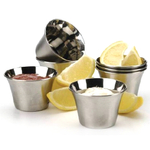Set of 6 Stainless Steel Seafood Sauce Cups