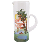 Tropical Flamingo Martini Pitcher
