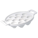 Revol Belle Cuisine White Porcelain 12 Hole Escargot Plate