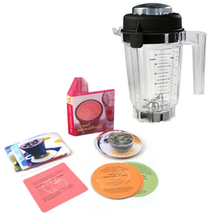 Vitamix Eastman Tritan 32 Ounce Blender Container with Wet Blade, 2 Part Lid, and Free Smoothie Recipe Book