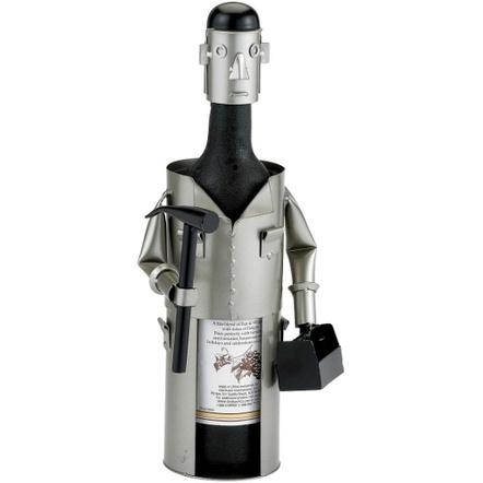 Old Dutch Metal Carpenter Wine Bottle Holder Buddy