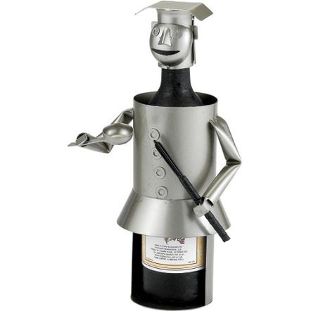Old Dutch Metal Chef Wine Bottle Holder Buddy
