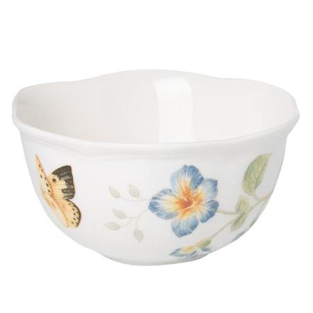 Lenox Butterfly Meadow Porcelain Dessert Bowl