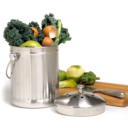 Norpro Stainless Steel Kitchen Compost Keeper Pail