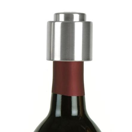 Prodyne Stainless Steel Push Button Wine Bottle Stopper