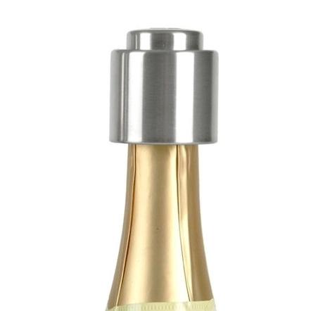 Prodyne Stainless Steel Push Button Champagne Bottle Stopper