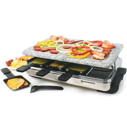 Swissmar Stelvio Raclette Party Grill with Granite Stone for 8