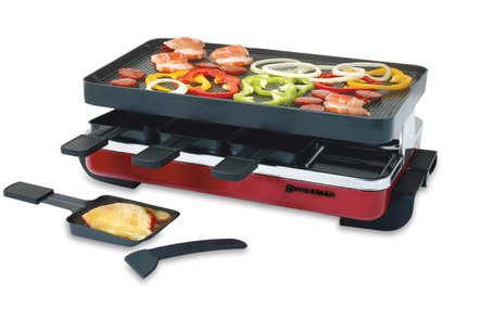 Swissmar Classic Red 8 Person Raclette Party Grill