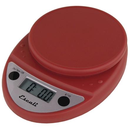 Escali Primo Warm Red Digital Scale 11 lb / 5 Kg