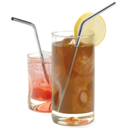 RSVP Endurance 18/8 Stainless Steel Drink Straw, Set of 4