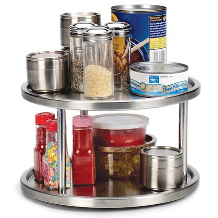 RSVP Stainless Steel 2 Tier Kitchen Turntable