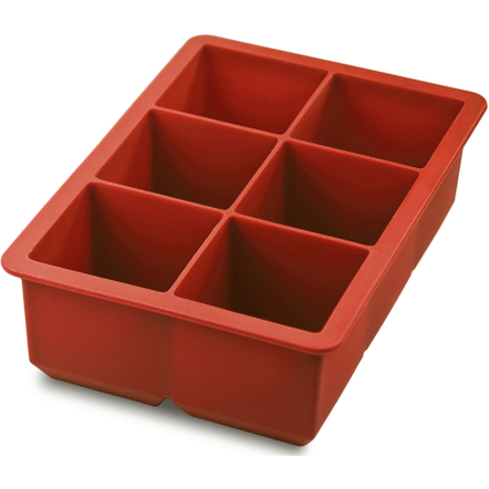 Tovolo King Cube Red Silicone Ice Cube Tray