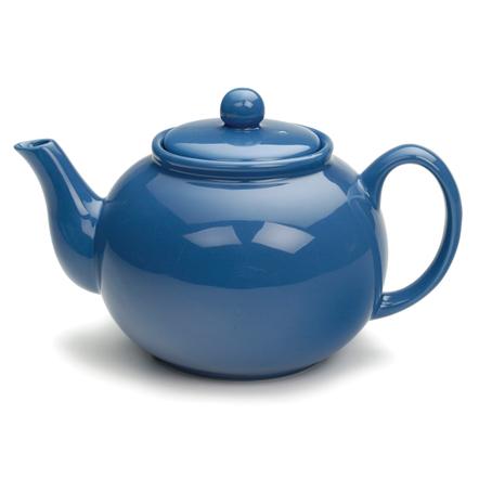 RSVP Light Blue 6 cup Stoneware Chai Teapot