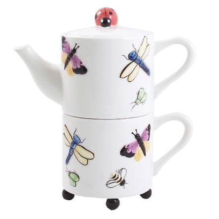 Butterfly Garden Artsy Tea For One Set