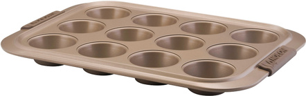 Anolon Advanced Bakeware Bronze Nonstick Muffin and Cupcake Pan, 12 Cup