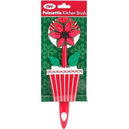 Boston Warehouse Poinsettia Kitchen Brush