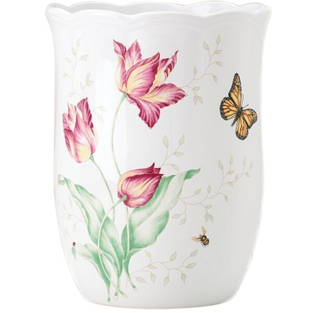 Lenox Butterfly Meadow Ceramic Bathroom Waste Basket