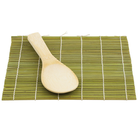 Helen Chen Asian Kitchen Bamboo Sushi Mat and Paddle