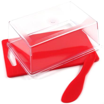 Linden Sweden Anita Red Small Slice and Serve Set