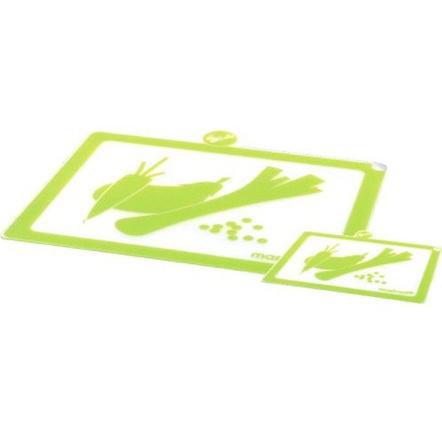 Mastrad Green Silicone Cutting Board, Set of 2
