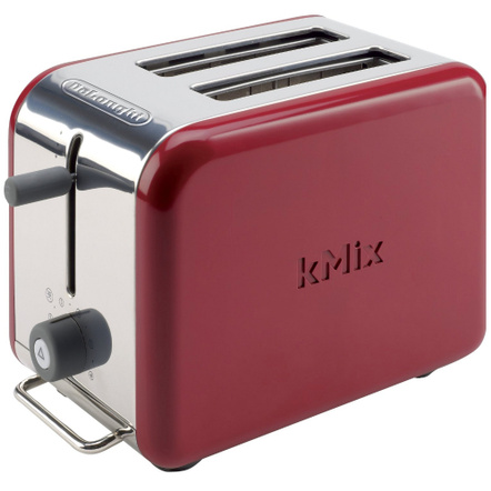 Delonghi Red Kmix Two Slice Toaster