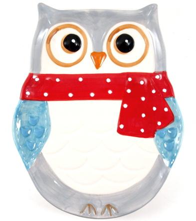 Boston Warehouse Porcelain Snowy Owls Platter