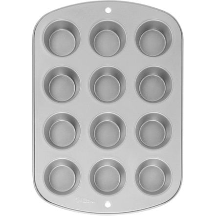 Wilton Recipe Right Stainless Steel 12 Cup Muffin Pan